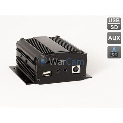 Усилитель AVIS Electronics AVS111 c влагозащищенным пультом управления с креплением на руль и встроенным MP3 плеером