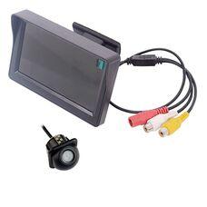 Монитор 4.3 дюйма + камера заднего вида врезная водонепроницаемая