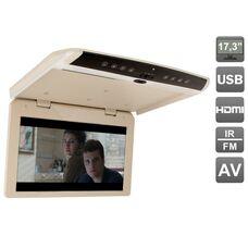 """AVIS Electronics AVS1750MPP (бежевый) 17,3"""" со встроенным FULL HD медиаплеером"""